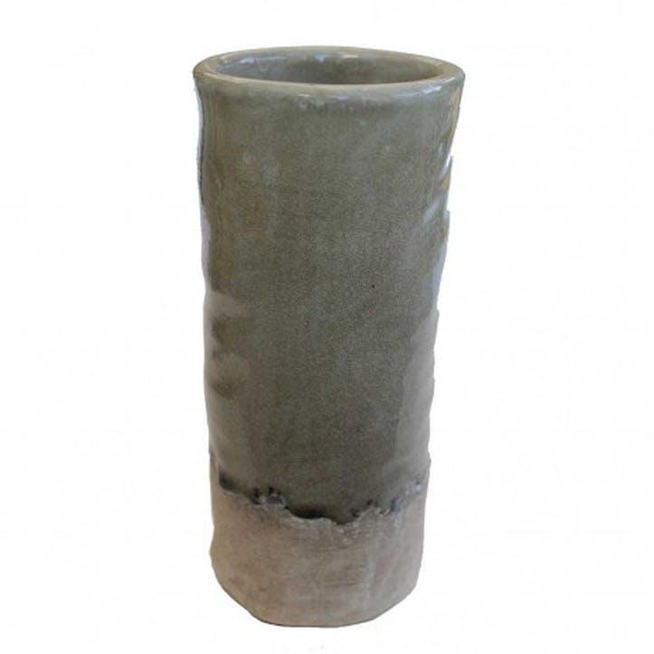 Large Pottery Vase, Olive