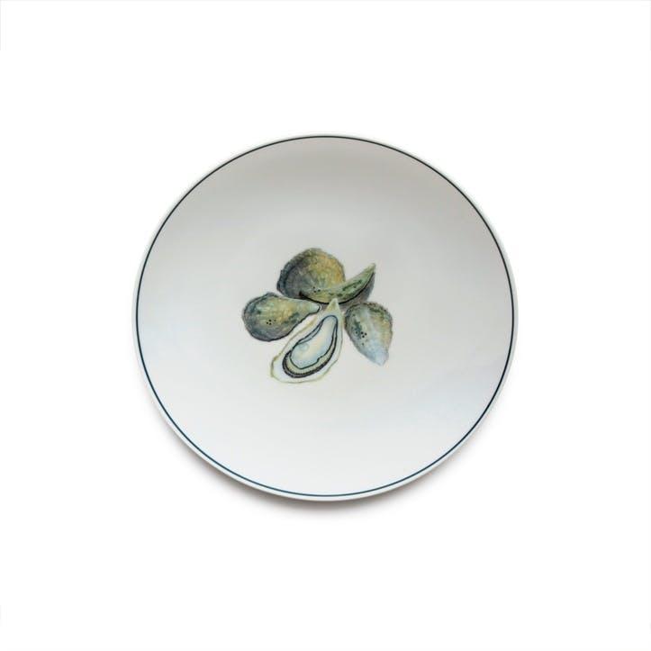 Seaflower Oyster Side Plate, 23cm, Multi