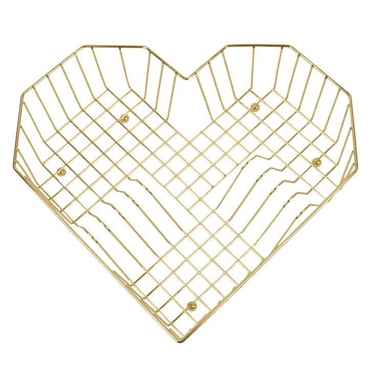 Heart Dish Rack, Gold