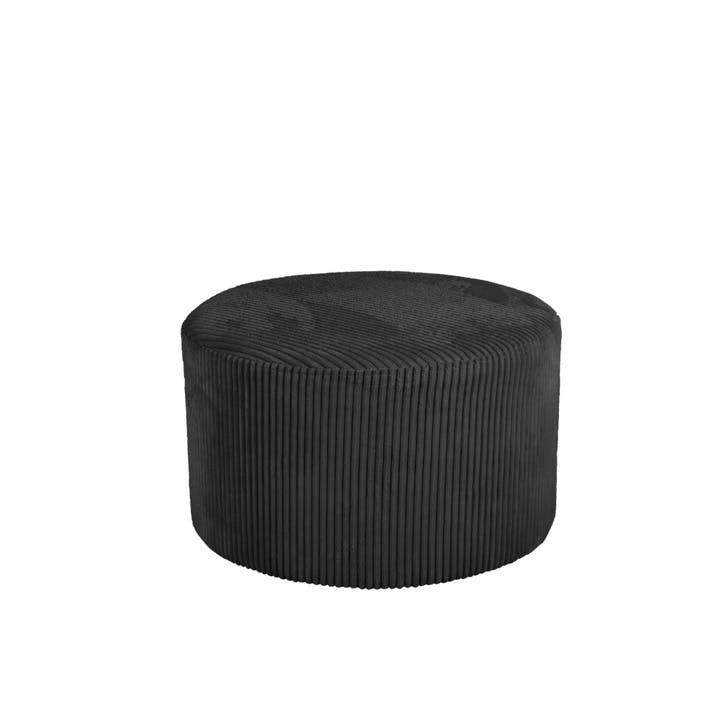Cord Pouf, Black