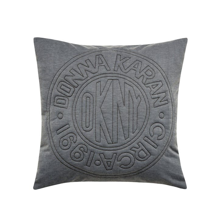 Circle Logo Cushion, Charcoal