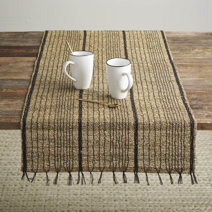 Seagrass Runner; Black/Natural