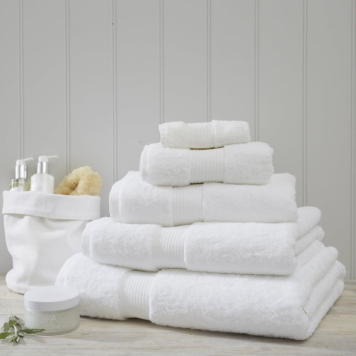 Egyptian Cotton Towel, Bath Towel, White