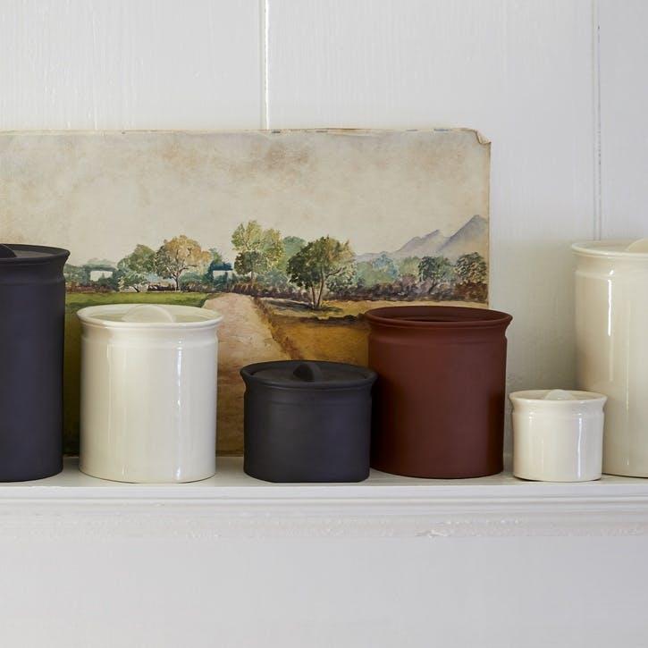 Larder Crock Storage Jar, Terracotta, Medium