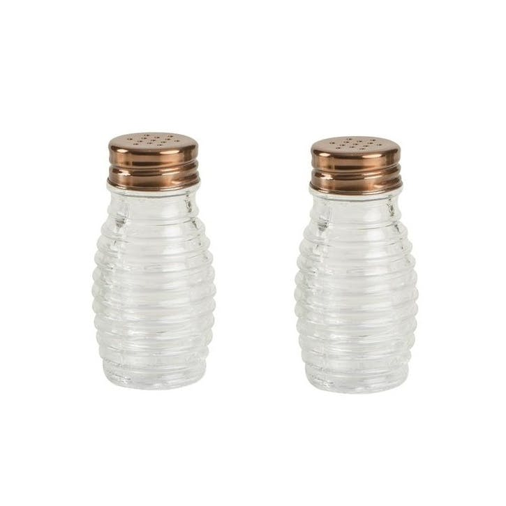 Beehive Glass Salt & Pepper Shaker Set