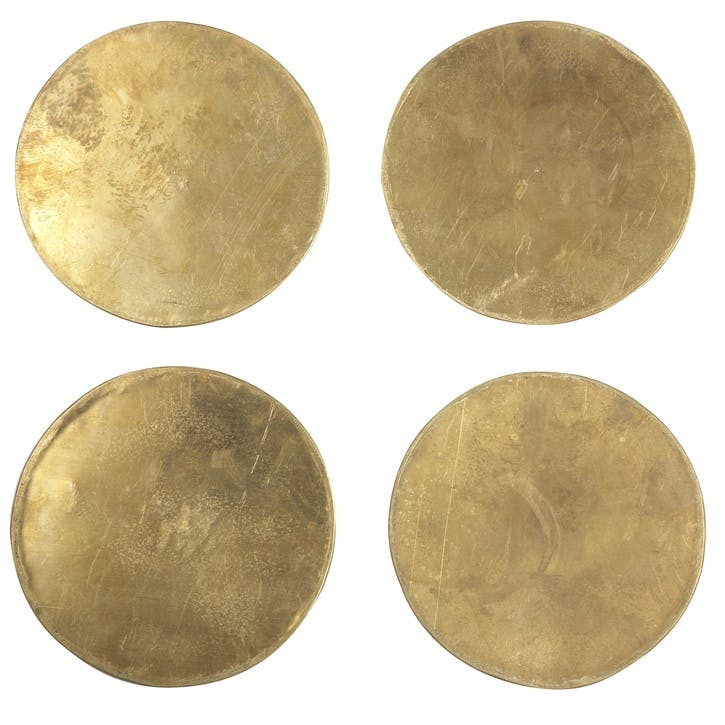 Brass Coasters, Set of 4