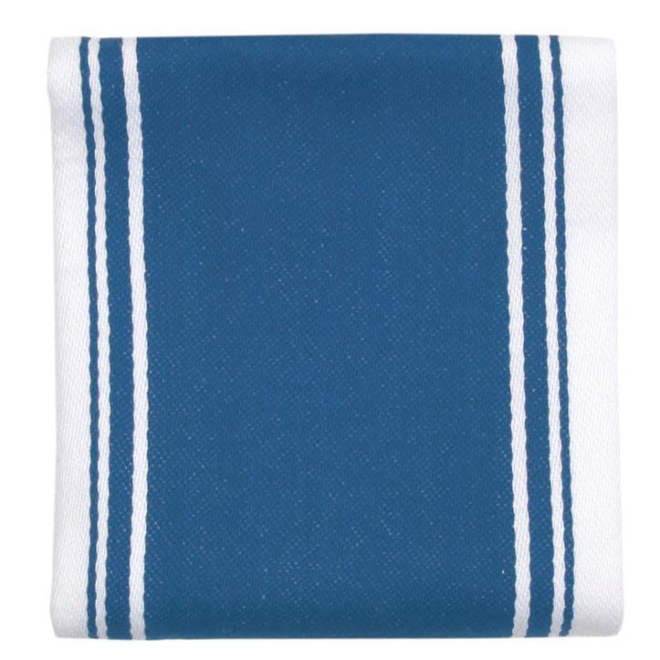 Striped Tea Towel, Moroccan Blue