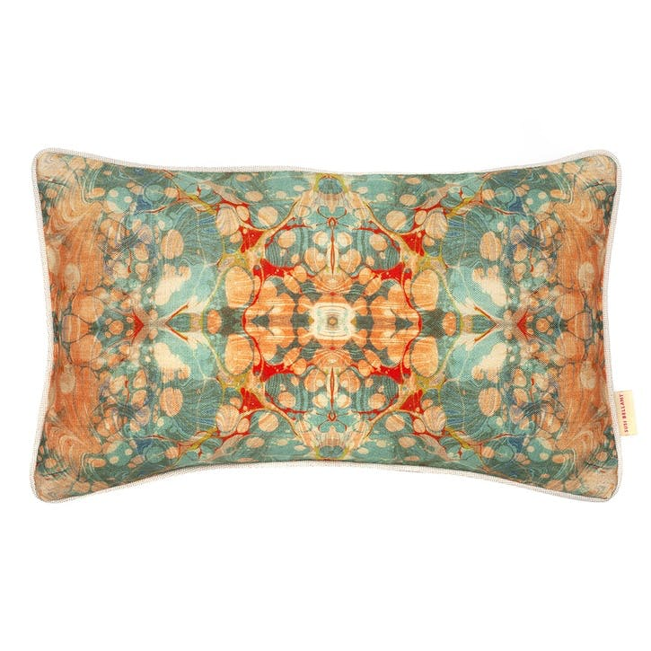 Fantasy Tapestry Kaleidoscope, Rectangular Linen Cushion, H53 x W32cm