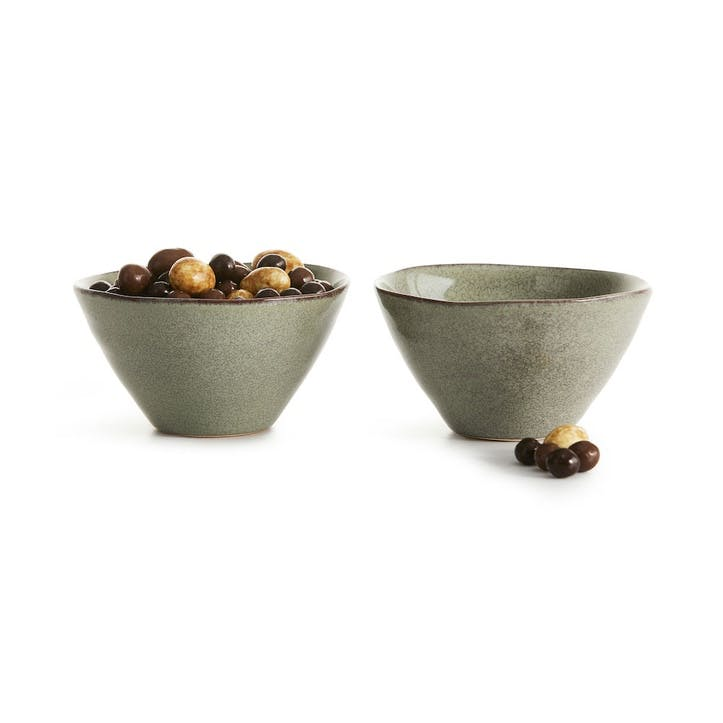Osby Small Serving Bowls, Set of 2, Green