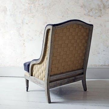 Duke Velvet Armchair, Grey