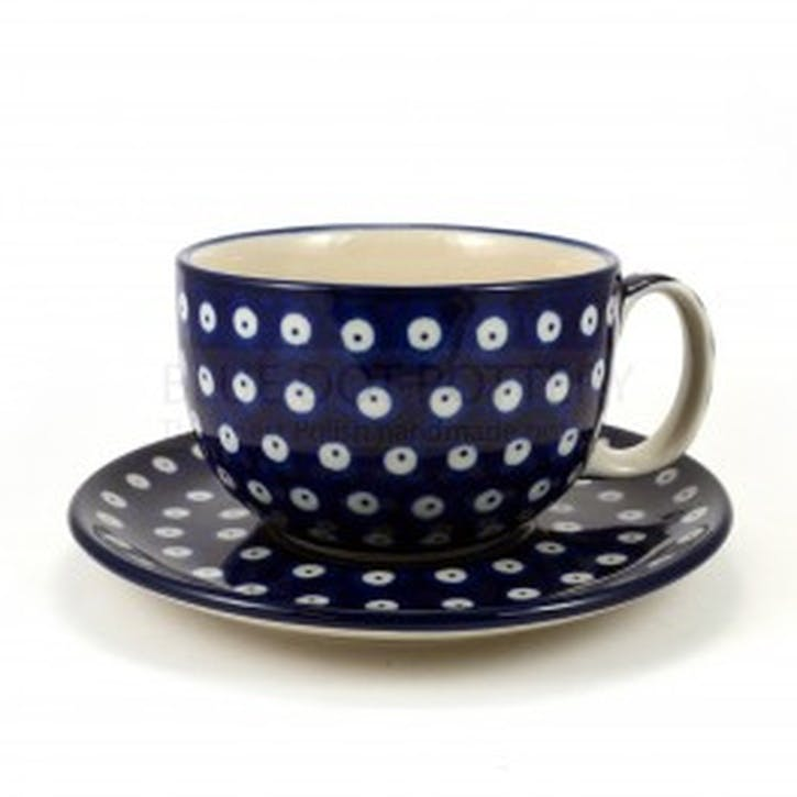 Blue Eyes Cup and Saucer, 8cm