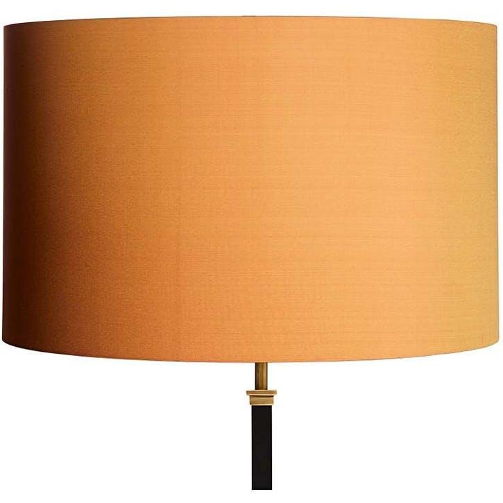 Drum Lampshade, 45cm, Saffron Dupion Silk