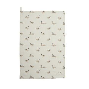 'Hare' Tea Towel