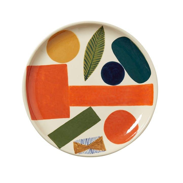 Autumn Leaf Dinner Plate, 26cm, Multi