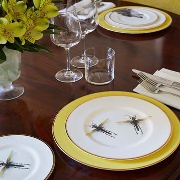 Urban Nature Dragonflies Dinner Plate, Yellow