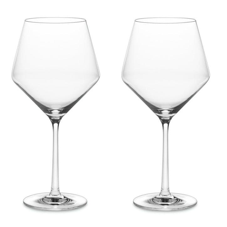 Pure Burgundy Wine Glasses, Set of 6