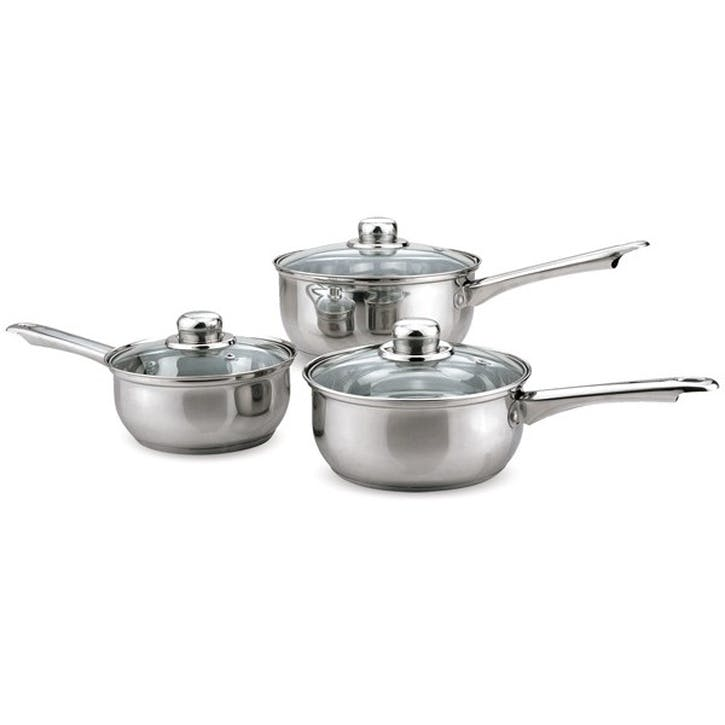Stainless Steel Cookware, 3 Piece Set