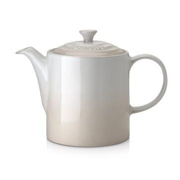 Stoneware Grand Teapot, Meringue