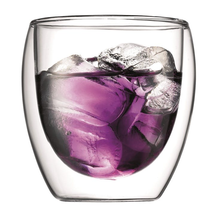 Pavina, Double Wall Glasses, Set of 2, 250ml, Clear