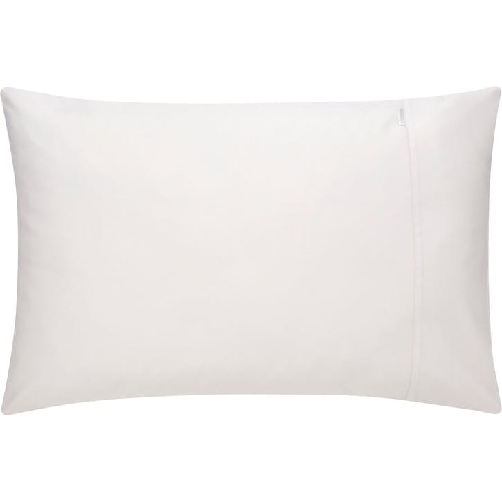 500tc Cotton Sateen Standard Pillowcases, Chalk