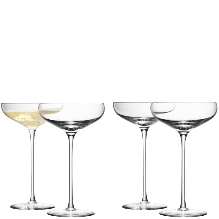 LSA Wine Champagne Saucer 300ml, Set of 4