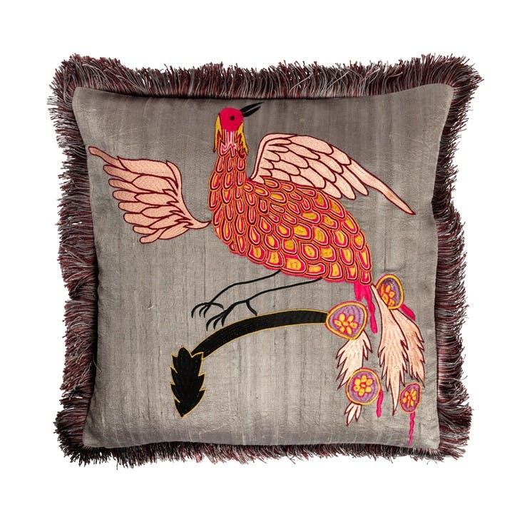 Bird of Paradise Cushion, City Pink