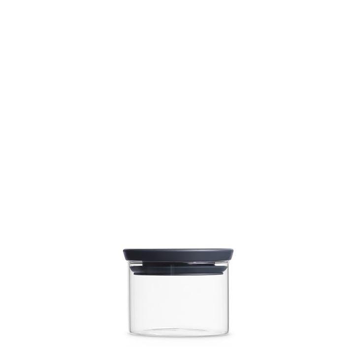 Stackable Glass Jar, 0.3L, Dark Grey