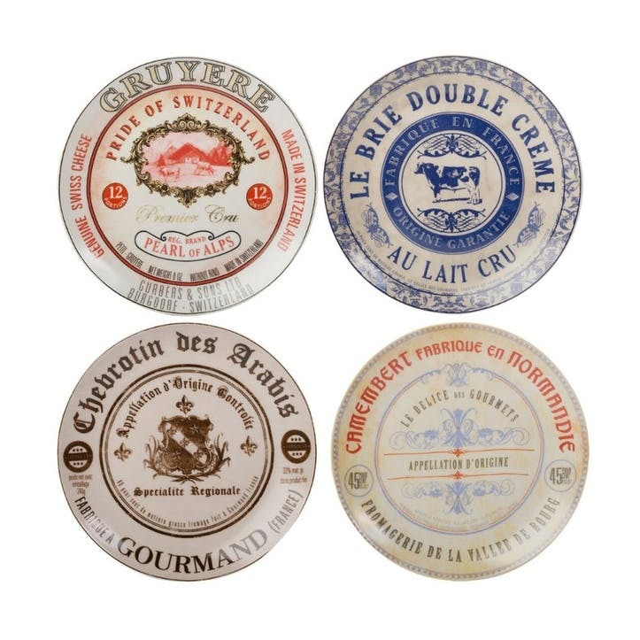 Gourmet Cheese Plate, Set Of 4