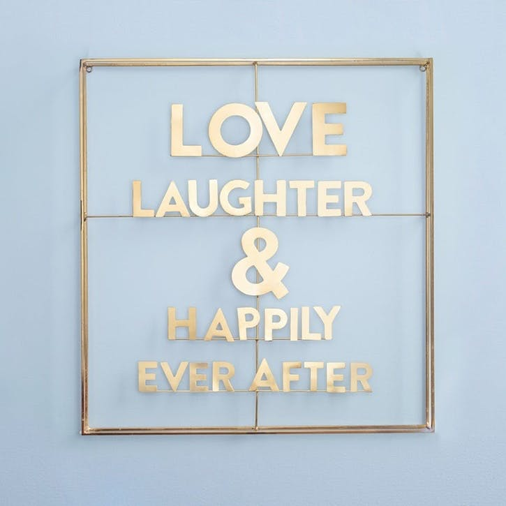 Love, Laughter & Happily Ever After Word Art