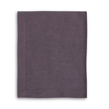 Mitered Hem Tablecloth, Aubergine, 160 x 275cms