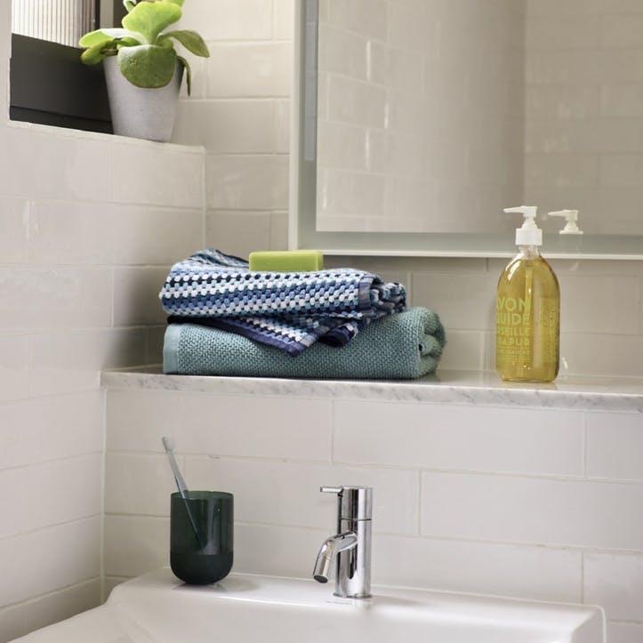 Carnaby Stripe Bath Towel, Blue