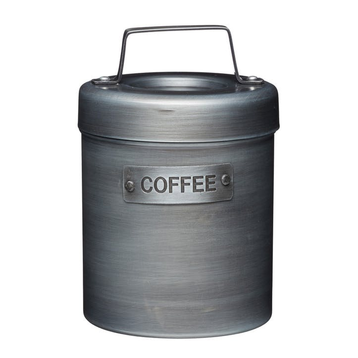 Industrial Kitchen Vintage-Style Metal Coffee Caddy