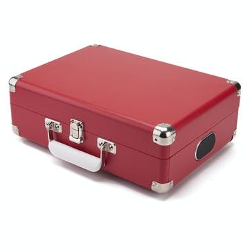 Attaché Case Turntable; Pillar-Box Red