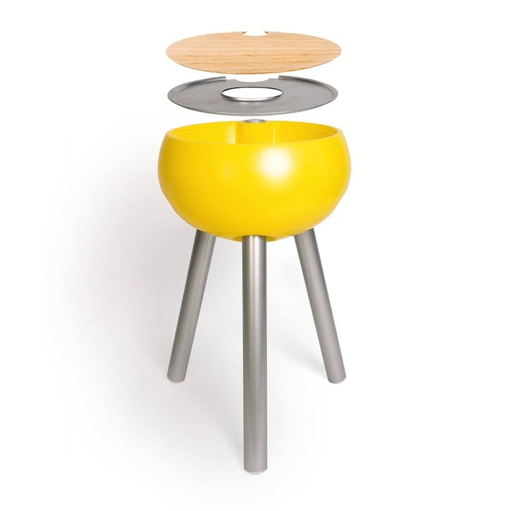 Homebird Entertaining Cooler Table, Egg Yolk