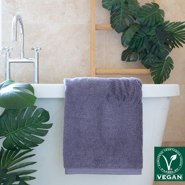Vegan Life Bath Sheet, Dark Grey