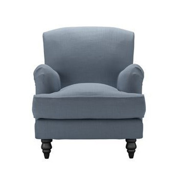 Snowdrop Armchair, Loch Brushed Cotton Linen