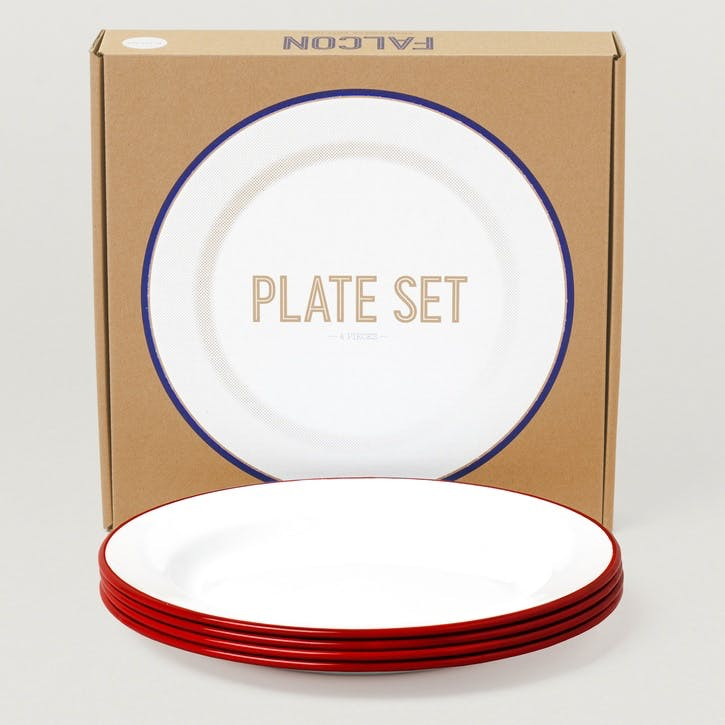 Plate Set, Postbox Red