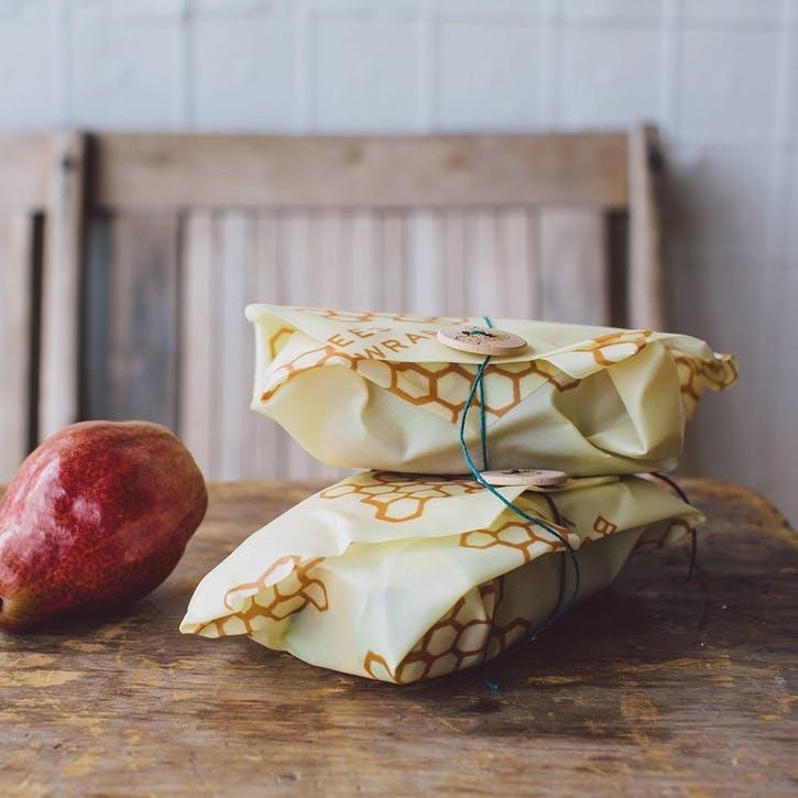 Bee's Wrap Print Sandwich Wrap, L33 x W33cm