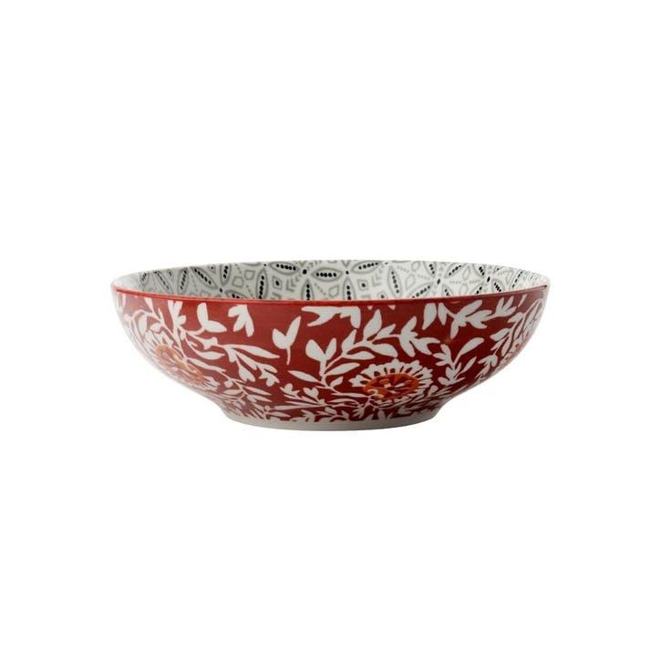 Boho Pasta Bowl, Grey