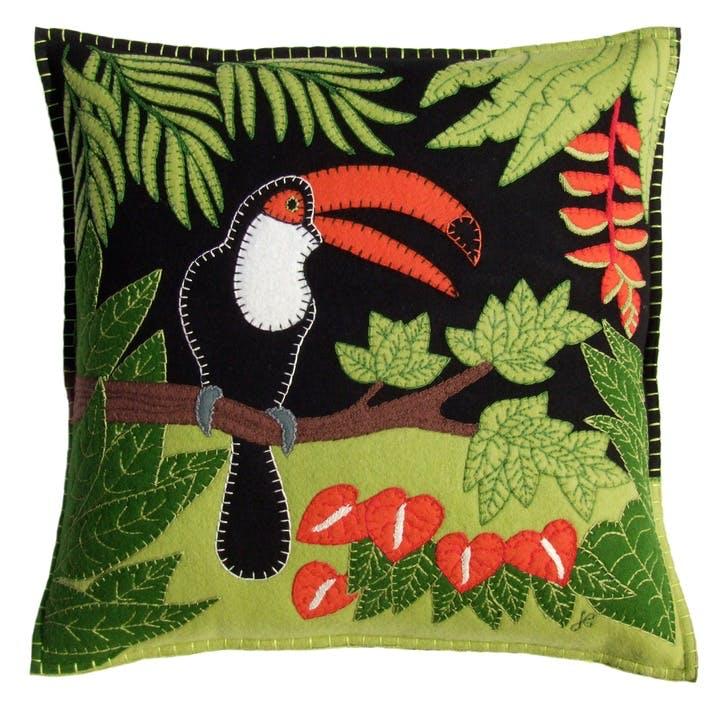 Tropical Toucan Cushion