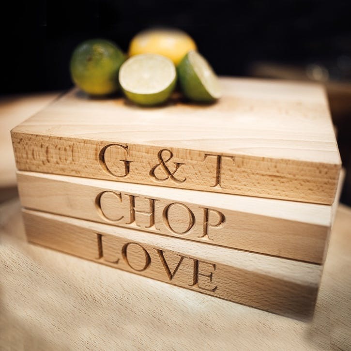'G&T' Wooden Chopping Board - Small