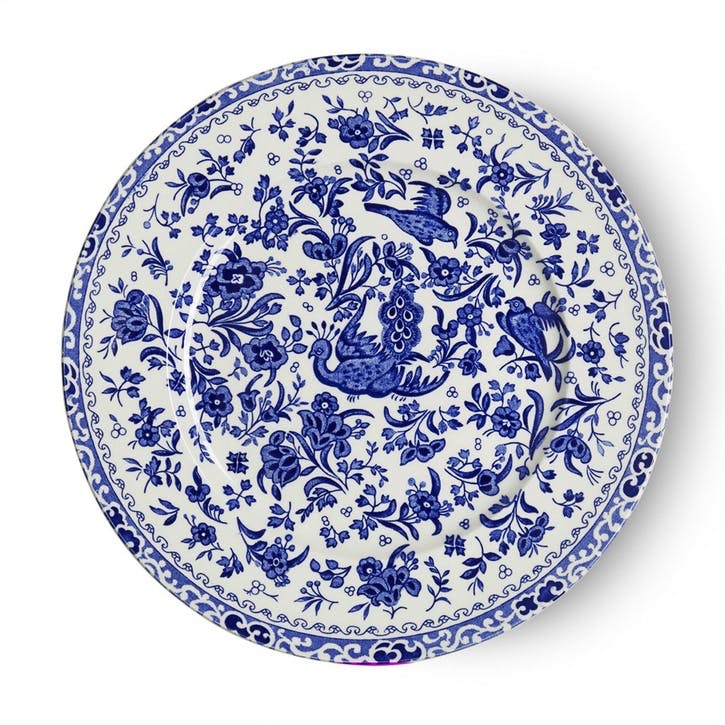 Regal Peacock Plate, 22cm, Blue