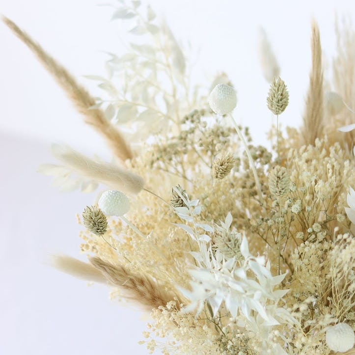Hand-Tied Medium Bouquet, Natural Whites