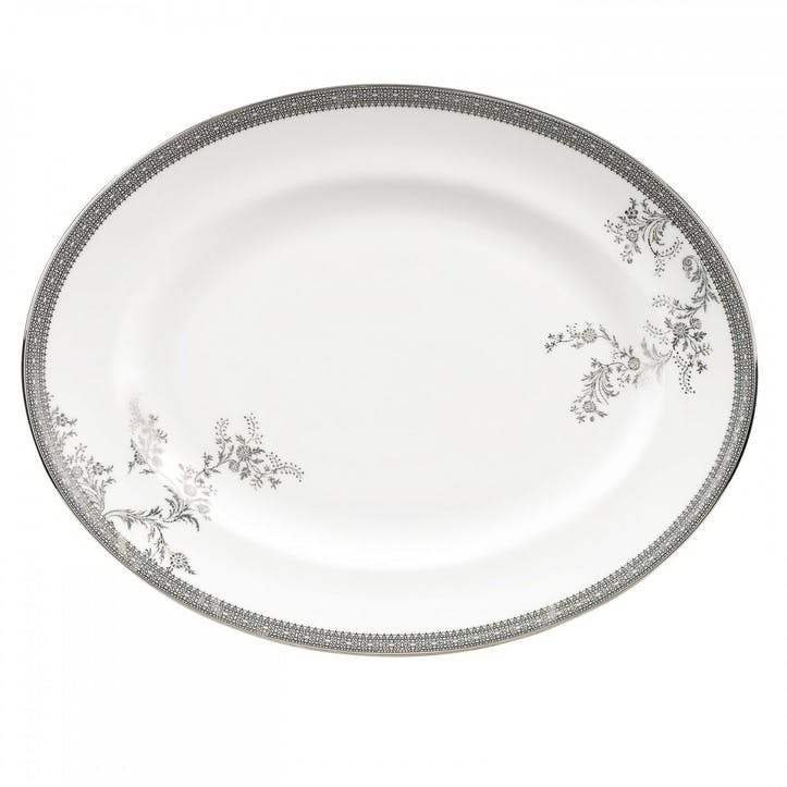 Lace Platinum Serving Dish, Large