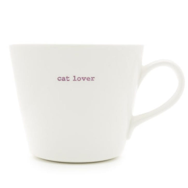 'Cat Lover' Bucket Mug, 350ml