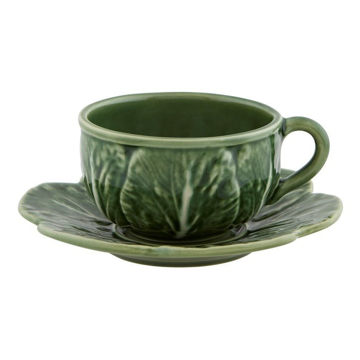 Cabbage Tea Cups, Set Of 4, 300ml, Green