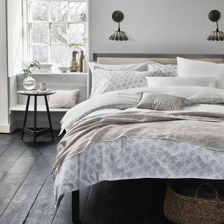 Leaf Double Duvet Set, Linen
