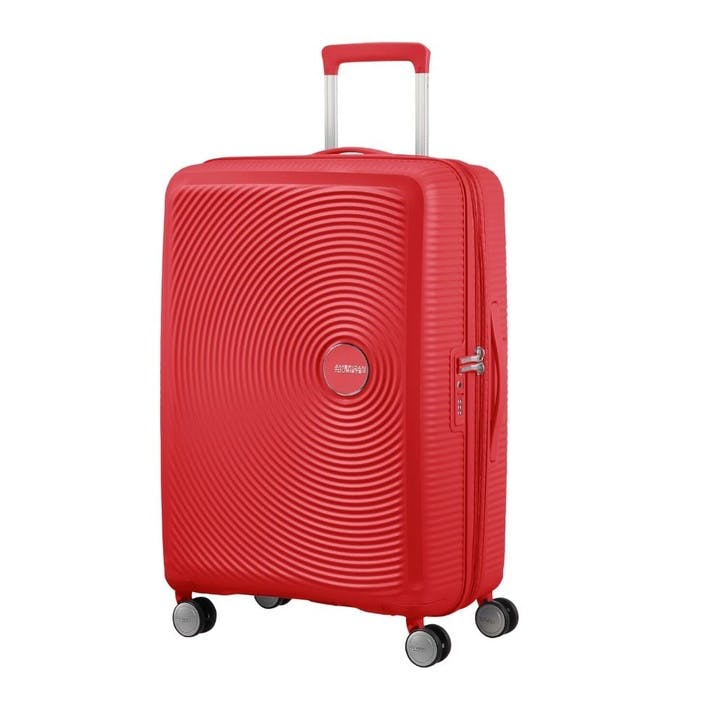 Soundbox Spinner Suitcase, 67cm, Coral Red