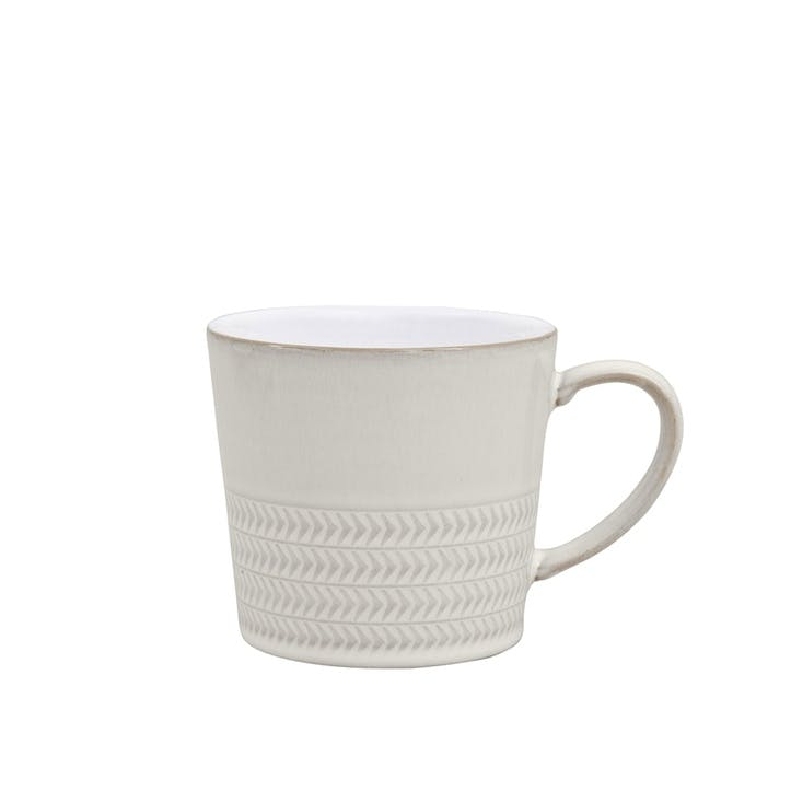 Natural Canvas Textured Mug, 300ml, Cream