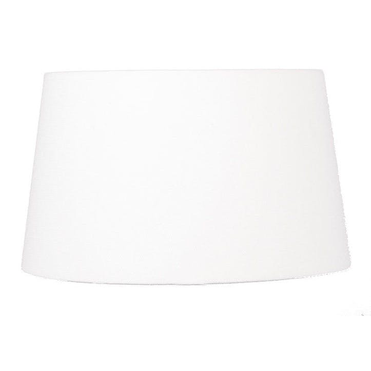 Handloom Tapered Cylinder Shade - 30cm; White